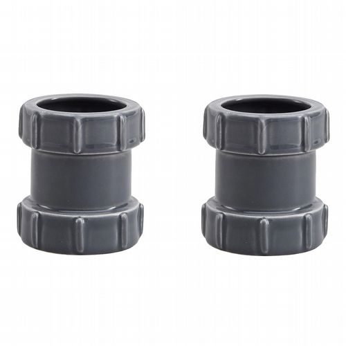 Pipe Egg Cups - Pack of 2 - Grey